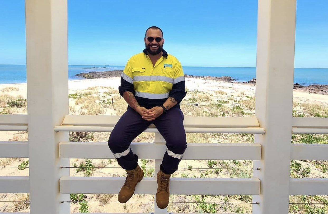 Lachie our FIFO Happiness GM photo on-site